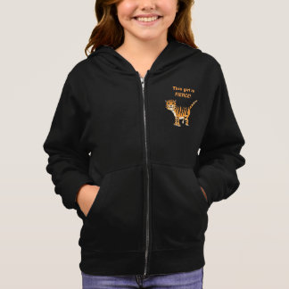 Cute Striped Tiger This Girl Is Fierce! Hoodie