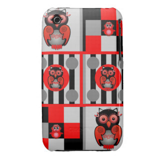 Cute stripes and Owls iPhone 3G/3GS case