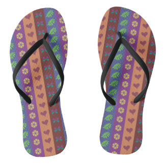 Cute Stripes Pattern Flip Flops