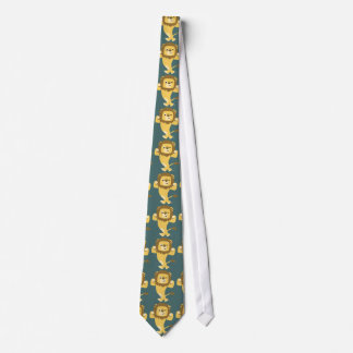 Cute Strong Cartoon Lion Tie