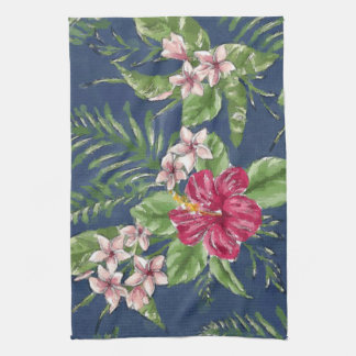 Cute Stylish Colors Tropical Hawaii Floral Pattern Tea Towel