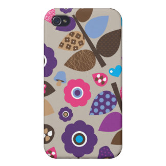 Cute stylish dot retro flower case iPhone 4/4S case