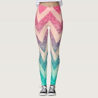 Cute Stylish Glittery, Zigzag Leggings