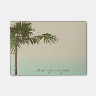Cute Stylish Tropical, Palm Tree,Personalized Post-it® Notes