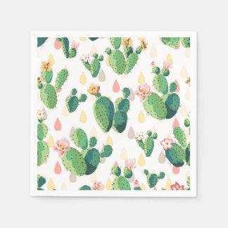 Cute Succulent Cactus Cocktail Paper Napkins Paper Napkin