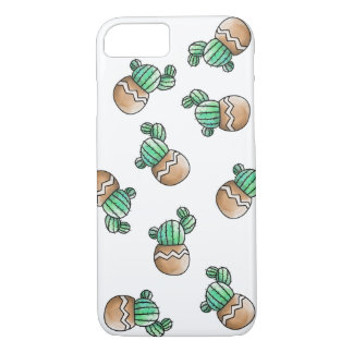 Cute Succulent Cactus Pattern Illustration iPhone 8/7 Case