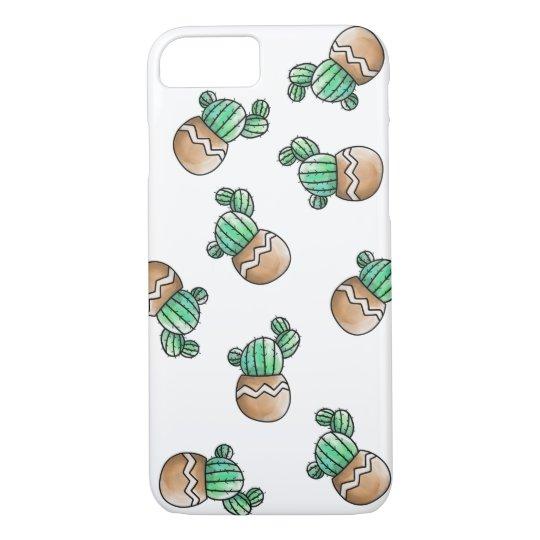 Cute Succulent Cactus Pattern Illustration iPhone 8/7 Case