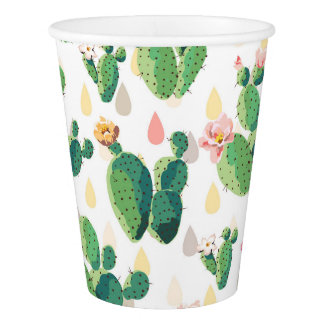 Cute Succulent Lovely Cactus Paper Cup