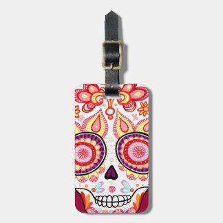 Cute Sugar Skull Luggage Tag Day of the Dead
