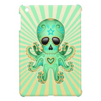 Cute Sugar Skull Zombie Octopus - Green iPad Mini Cover