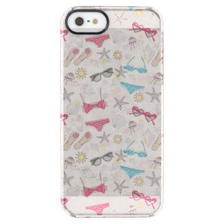 Cute Summer Abstract Pattern Clear iPhone SE/5/5s Case