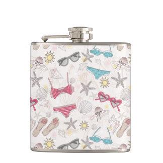 Cute Summer Abstract Pattern Hip Flask