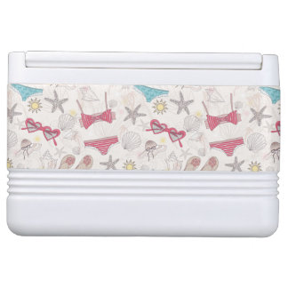 Cute Summer Abstract Pattern Igloo Cooler