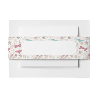Cute Summer Abstract Pattern Invitation Belly Band