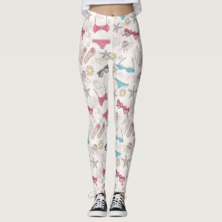 Cute Summer Abstract Pattern Leggings