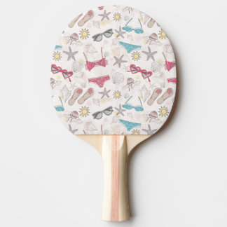 Cute Summer Abstract Pattern Ping Pong Paddle