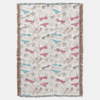 Cute Summer Abstract Pattern Throw Blanket