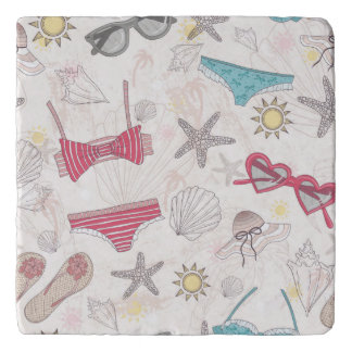 Cute Summer Abstract Pattern Trivets