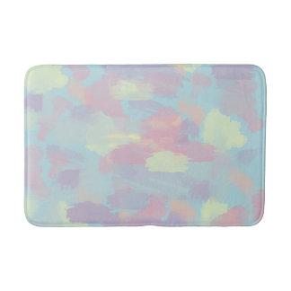 cute summer colorful pastel brushstrokes pattern bath mat