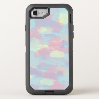 cute summer colorful pastel brushstrokes pattern OtterBox defender iPhone 8/7 case