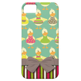 cute summer ducks and stripes case for the iPhone 5