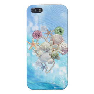 Cute Summer Starfish , Shells And Pearls iPhone 5 Case