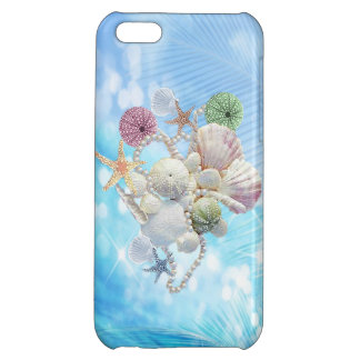 Cute Summer Starfish , Shells And Pearls iPhone 5C Covers