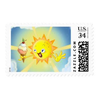 Cute Summer Sun Medium Postage Stamp