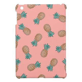 cute summer tropical faux gold pineapple pattern iPad mini case