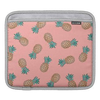 cute summer tropical gold foil pineapple pattern iPad sleeve
