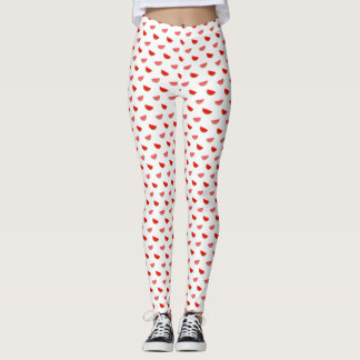 Cute Summer Watermelon Slices Pattern Leggings