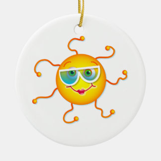 Cute Sun Christmas Ornament