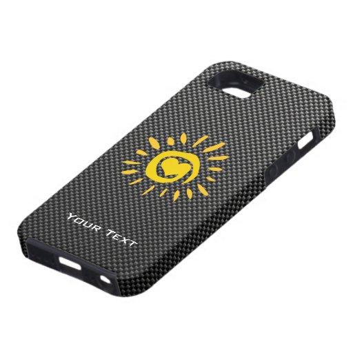 Cute Sun; Faux Carbon Fiber iPhone 5 Covers