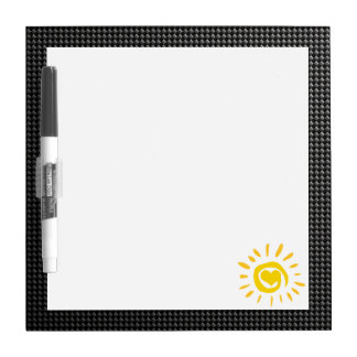 Cute Sun; Faux Carbon Fiber Dry Erase Board