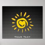 Cute Sun; Faux Carbon Fibre Poster