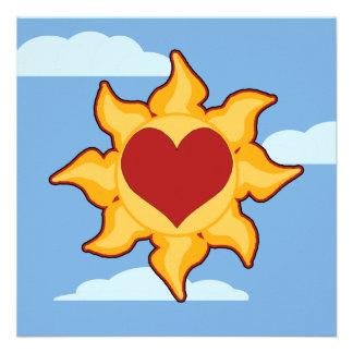 Cute Sun & Heart Invitations