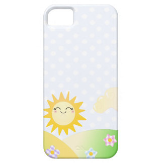 Cute sun kawaii cartoon barely there iPhone 5 case