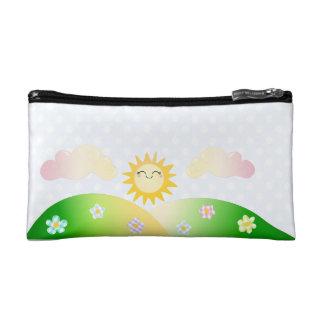 Cute sun kawaii cartoon makeup bag