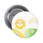 Cute sun kawaii cartoon pin
