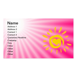 Cute Sun; Pink Pack Of Standard Business Cards