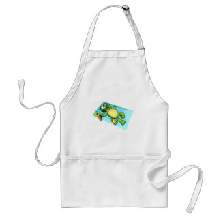 cute sun tanning turtle standard apron