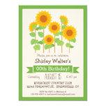Cute Sunflowers Floral Adult Birthday Party 13 Cm X 18 Cm Invitation Card