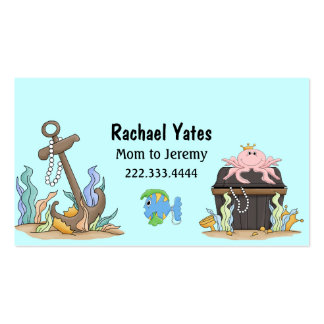 Cute Sunken Treasure Mommy Card Pack Of Standard Business Cards