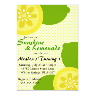 Cute Sunshine & Lemonade Party Invitation