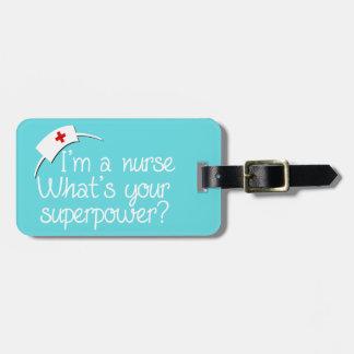 Cute Super Nurse Luggage Tag