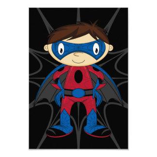 Cute Superhero Boy 9 Cm X 13 Cm Invitation Card