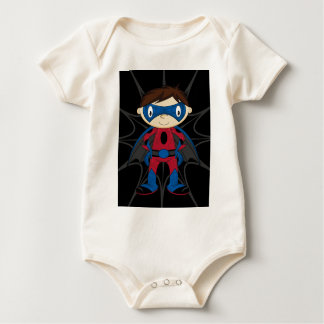 Cute Superhero Boy Baby Bodysuit
