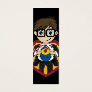 Cute Superhero Boy Bookmark Mini Business Card