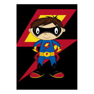 Cute Superhero Boy Pack Of Chubby Business Cards