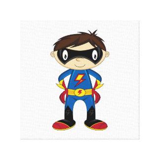 Cute Superhero Boy Gallery Wrap Canvas